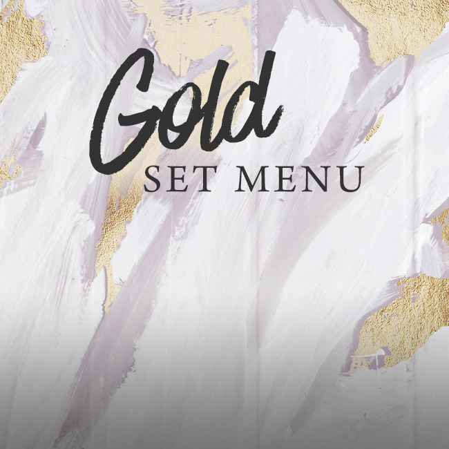 Gold set menu at The Pine Marten