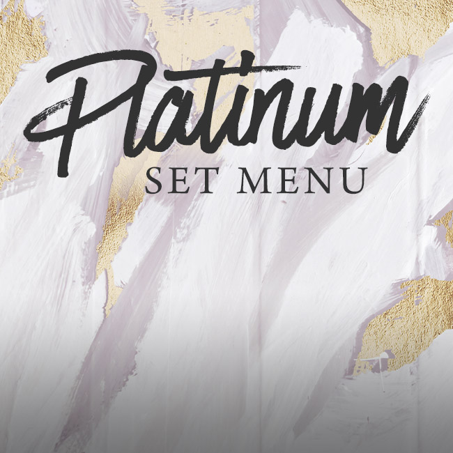 Platinum set menu at The Pine Marten