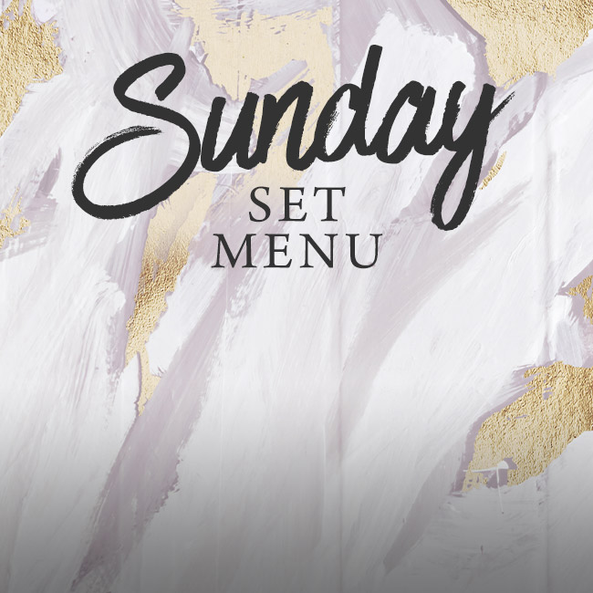 Sunday set menu at The Pine Marten