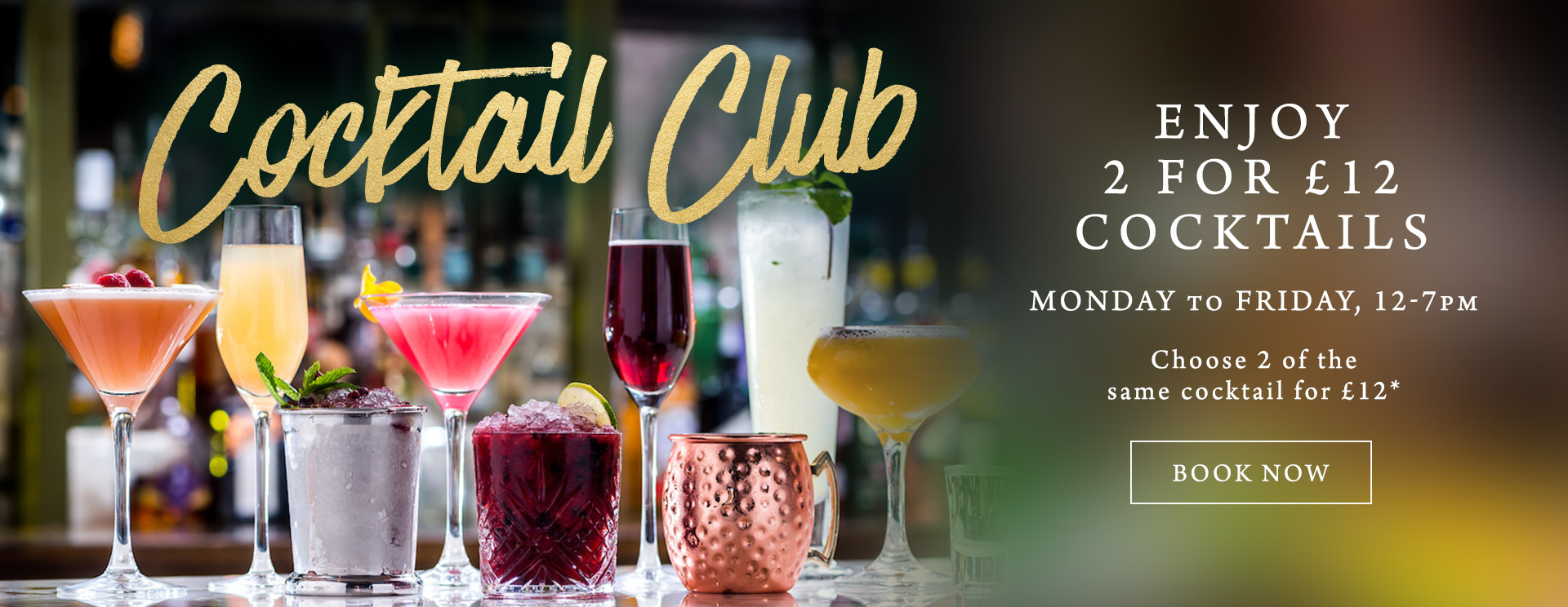 2 for £12 cocktails at The Pine Marten